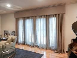 Window Curtain Box Design Linen Window Treatment Cornice Boards Great Way To Tone Down The