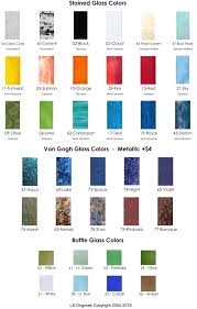 Glass Color Chart