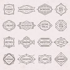 Labels With Border Modern Hipster Linear Geometric Frames Borders Labels Backgrounds