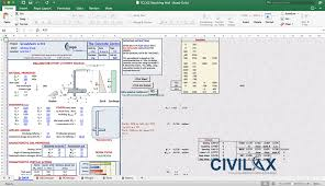 Small Picture Retaining Wall Design Spreadsheet Civil Engineering Community