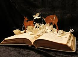stories jump out of the pages with 3d book sculptures
