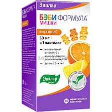 Эвалар <b>Бэби формула Мишки Витамин</b> C пастилки жев. 2,5г 30 шт.