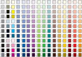 Printing Colour Chart Cmyk Color Chart For Printing Printed Version Of This