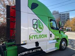 2019 Freightliner Cascadia Green Engine Light Driving Hybrid Electric Fully Electric Trucks In Atlanta