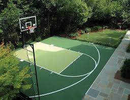 Basketball is a team sport in which two teams of five players score points by shooting (throwing) a ball through an elevated hoop located on either side of the rectangular court. Sport Court Northern California Residential Commercial Court Builder
