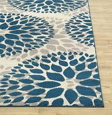 8 x 10 teal gray off white area rug contemporary modern unique carpet decor 3