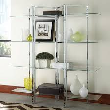 Image Charcoal Grey Chrome And Glass Bookcase Lacetothetopcom Chrome And Glass Bookcase Lacetothetopcom