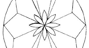 Symmetry Coloring Pages Geometric Flower Coloring Pages Symmetry