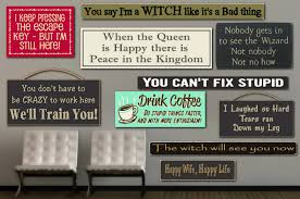 funny wood signs