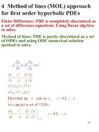 4 method of lines mol approach for first order hyperbolic pdes