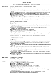 Business Analyst Sample Resume Agile Business Analyst Resume Samples Velvet Jobs 14
