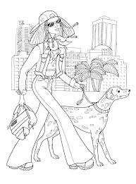 Small Picture Fashionable girls coloring pages 9 Coloring kids Pinterest