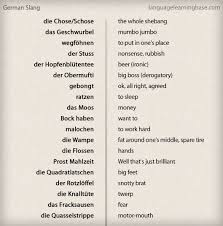 German Slang Yes Its Like A Language Of Its Own German