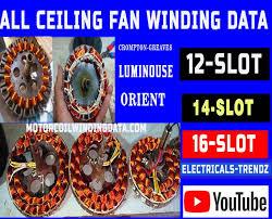 ceiling fan winding data sheet