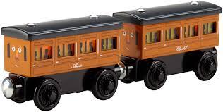 deal alert thomas the train wooden railway light up reveal annie clarabel 40 off hip homeschool moms