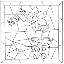 Choose several coloring pages at once, give your. Mother S Day Color By Number Free Printable Coloring Pages