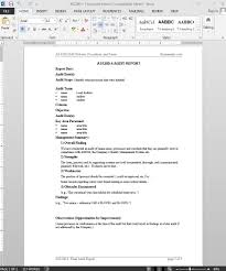 Audit Report Template Word AS24 Audit Report 1