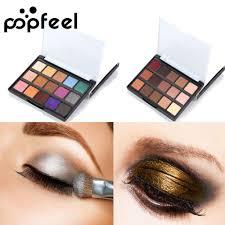 popfeel luminous matte eyeshadow palette smokey eye shadow kit shimmer natural women eye makeup eyebrow makeup eye makeup tutorial from blueberry14