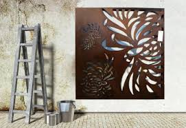 Small Picture Outdoor Wall Art Metal Cute Wall Art Ideas On 3 Piece Wall Art