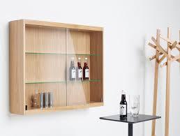 fabulous wall mounted sideboard contemporary oak glass front by l mv19