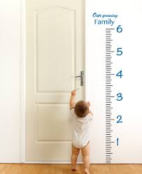 Giant Vinyl Growth Chart Kit Kids Diy Height Wall Ruler Large Measuring Tape Sticker Number Decal Sticker Azure Blue 73x23 Inches