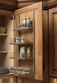 gorgeous stainless metal wall e rack mounted on cabinet door kitchen