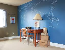 office wall paint. Images Home Office Ideas Using Maps   World Art In Wall Decor - Paint E
