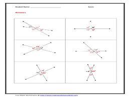 Vertical Angle Worksheet Worksheets – Guillermotull.COM