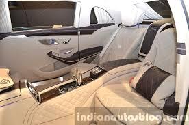Mercedes Maybach S600 Pullman rear seats at IAA 2015 - Indian ...