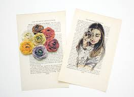 easy diy art printing on book pages