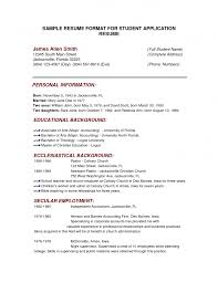 College Sample Resume College Student Resume Example Sample