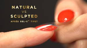 natural vs sculpted aprés gel x tips