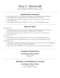 Resume Templates For Word Free Inspiration Template For Basic Resume Basic Resume Template Basic R Templates