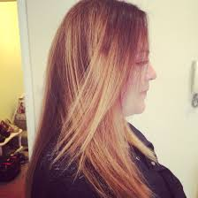 Blonde Brunette Prominent Ombré Dying Hair