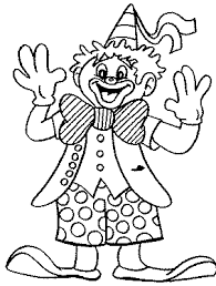 Small Picture Coloring pages for kids to print Clowns and circus coloring page