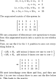 suppose we have the following system of equations