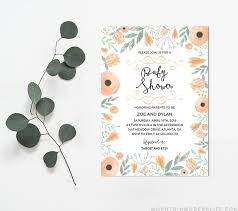 Baby Shower Invitations Template Floral Diy Baby Shower Invitation