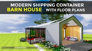 Modern Barn Home Designs Modern Shipping Container 3 Bedroom Barn House Design Floor Plans Barnbox 640