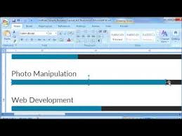 How To Customize Resume Template Bar Chart In Microsoft Word 4 Of