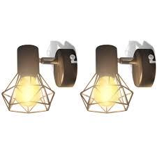 Đèn treo tường 2 dây phong cách công nghiệp màu đen với bóng đèn LED dây