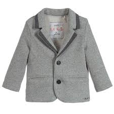 Boys Designer Blazer Boys Grey Jersey Blazer For Boy By Ikks Discover The Latest