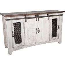 picture of pueblo 60 barn door tv stand
