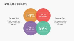 Infographic Venn Diagram Data Infographic Flat Elements For Powerpoint