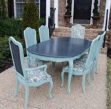 painted vine french thomasville dining table