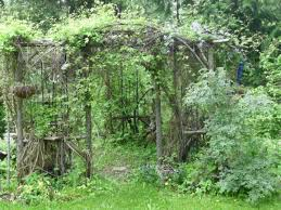 garden arbors and arches metal stone