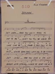 Ella Fitzgeralds Vocal Charts At The Musical Instrument