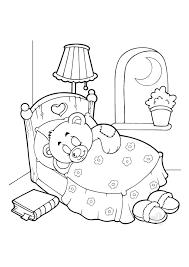 Elegante Disegni Di Bambino Che Dorme Nel Lettino Da Colorare