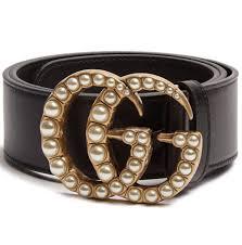 gucci belt. gucci faux-pearl embellished belt