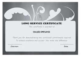 Years Of Service Award Wording Application For Employment Certificate Template Employee Of Service