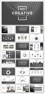 Powerpoint Design Templates Download Black White Simple Business Report Powerpoint Template